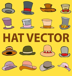 fashion hat vector image