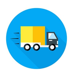 Fast shipping flat circle icon vector