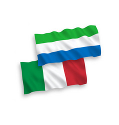 flags italy and sierra leone on a white vector image