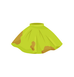flat icon of green skirt with brown spots vector image