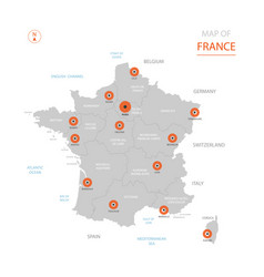 france map with administrative divisions vector image