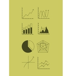 Graph chart with business related icons image vector