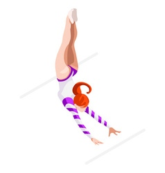 Gymnastics uneven bars 2016 sports 3d vector