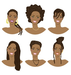 hairstyle African American vector image