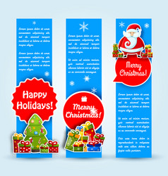 happy new year card banner set vector image