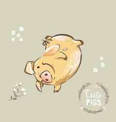 happy pig 2019 new year symbol dancing funny new vector image