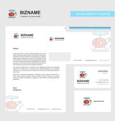 helicopter ambulance business letterhead envelope vector image