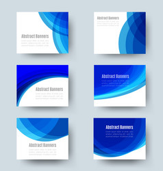 horizontal banner set 2 vector image