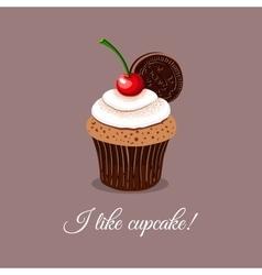 I Like Cupcake vector image