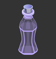 isolated transparent glass purple bottle vector image