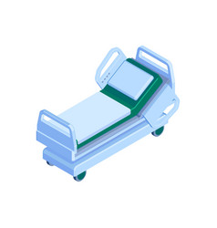 Isometric hospital bed vector