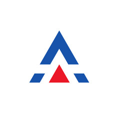 letter a logo design rlement with with triangle vector image