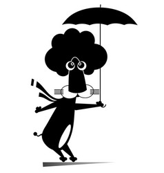 Lion with umbrella isolated vector