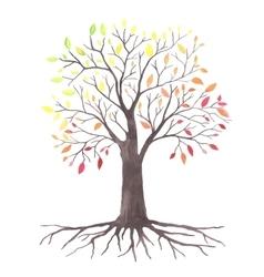 Lovely autunm tree vector