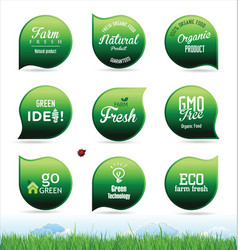 modern ecology badges collection vector image
