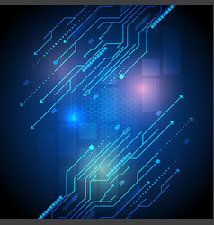 modern technology of circuit board vector image