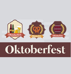 oktoberfest festival design with icon vector image