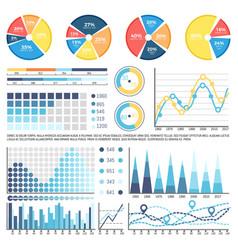 Pie diagram with sectors percentage information vector