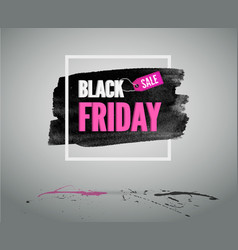 pink banner with frame black friday fashion card vector image