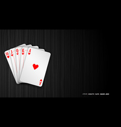 Poker casino banner with chips and cards vector