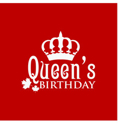 2a02fbd8 Queens birthday template design vector ...