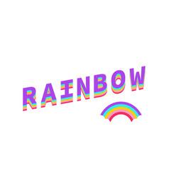 rainbow color rainbow with text rainbow isolated vector image