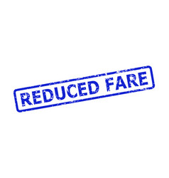 Reduced fare stamp with unclean texture and vector