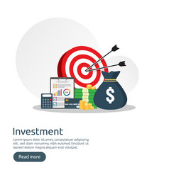 Return on investment roi concept business growth vector
