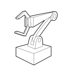 Robotic arm icon outline style vector