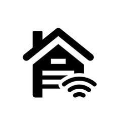 smart garage control icon vector image