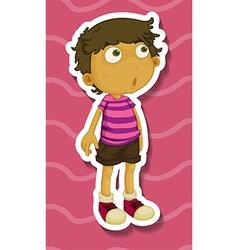 Sticker of a boy standing vector