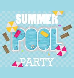 Summer pool flat design style vector