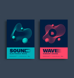 Swiss modern music festival poster with wave lines vector