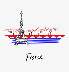 symbol eiffel tower france vector image
