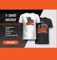 T-shirt template of warrior viking vector