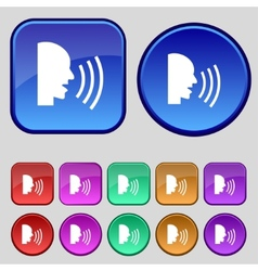 Talking Flat modern web icon Set colour button vector image