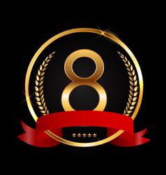 Template logo 8 years anniversary vector