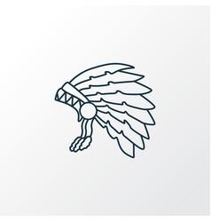 thanksgiving costume icon line symbol premium vector image