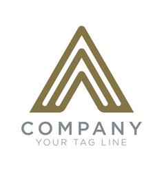 triangular logo template symbol spirit vector image