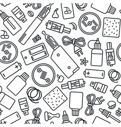 Vape shop seamless pattern vector