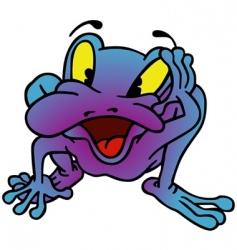 Violet frog vector