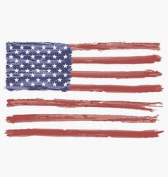 watercolor flag usa vector image