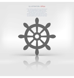 Wheel web icon vector