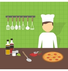 Workplace cook vector image