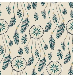 Dream catcher seamless pattern vector image vector image