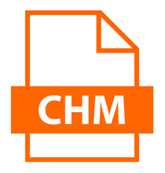 file name extension chm type vector image vector image