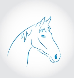 Hand drawn head horse vector image vector image