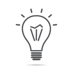 Light electrical bulb icon vector image