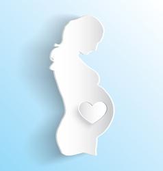Pregnant Woman Sticker vector image vector image