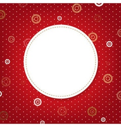 Abstract red background with speech bubble vector